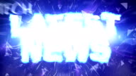 LATEST NEWS Text Animation, Rendering, Background, Final Explosion with Green Screen video