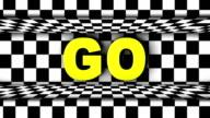 GO Text in Checker Door, Loop video