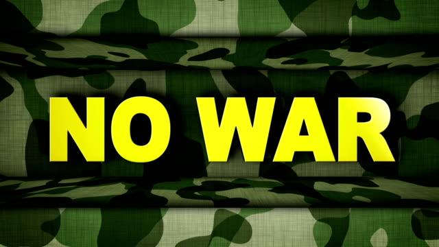 NO WAR Text in Military Door, Loop video