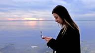 Text messaging woman video