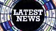 LATEST NEWS Text Monitors Tunnel, STILL CAMERA, LOOP video