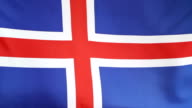 Textile national flag of Iceland video