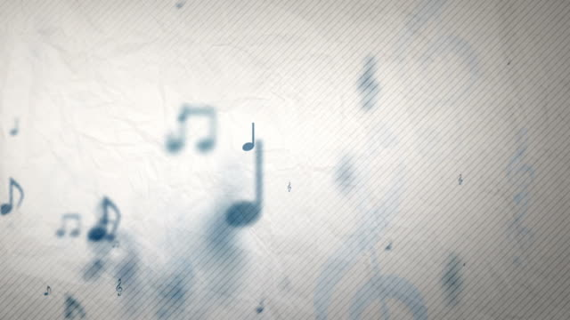 Textured Background Loop - Musical Notes Blue (Full HD Video) video