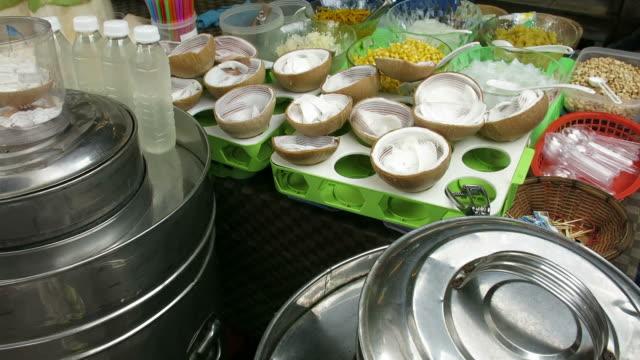 Thai coconut ice cream video