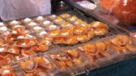 Thai crispy pancake  with full stuffed , Bangkok , Thailand video