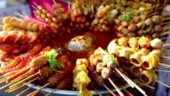 Thai Cuisine Meatball Snack Luk Chin Ping video