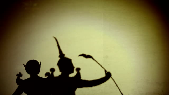 Thai dance perform silhouetted video