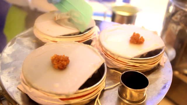 Thai dessert , Steamed rice-skin dumplings with pork filling video