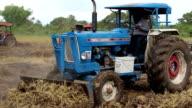 Thai farmer tractor video