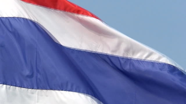 Thai Flag Up close video
