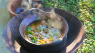 Thai food cooking in a local style video
