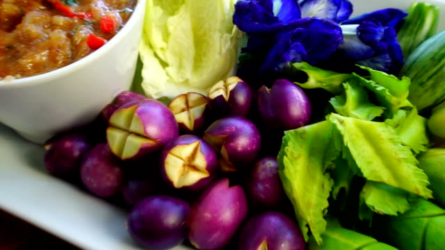 Thai Food Shrimp Nam Prik Set video