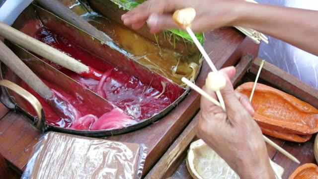 Thai handmade sugar candy video