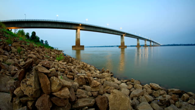 Thai - Lao Friendship Bridge video