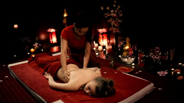 Thai massage thumb. video