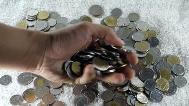 thai money coins drop video