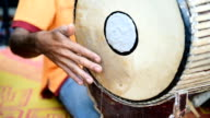 Thai Musician Playing of Two-Faced Drum Instrument video