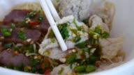 Thai noodle soup , 4k resolution , UHD video