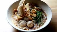 Thai noodle video
