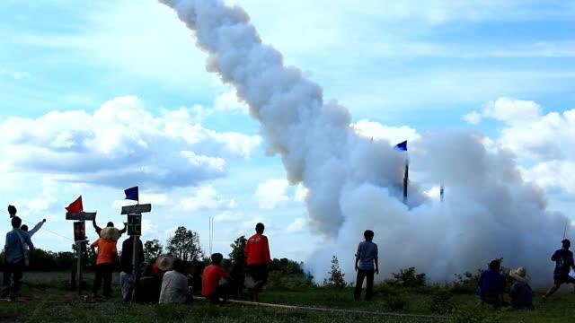 Thai Rocket launch horizontal distance video
