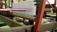 Thai silk weaving machine. video