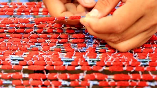 Thai silk woven process video