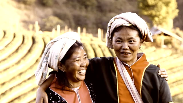Thai Two women with Lahu hill tribe video