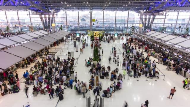 thailand day bangkok city national airport panorama 4k time lapse video