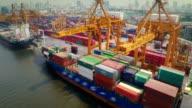 Thailand Docks , Aerial video