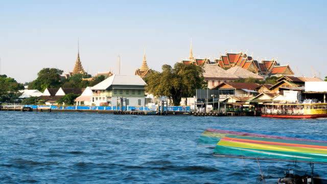 TL ZO of Thailand ferry and speed boat are the transportation service operating on the Chao Phraya River. video