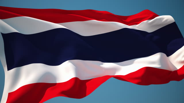 4K Thailand Flag - Loopable video
