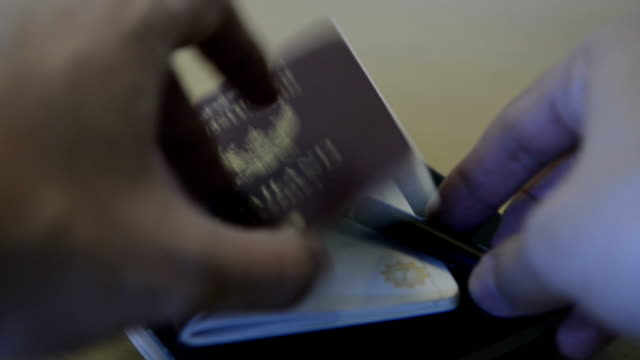 Thailand passport and map video