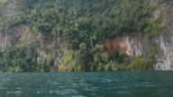 Thailand, Rocks on lake video