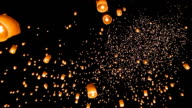Thailand sky lantern Traditional Festival. video