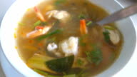 Thailand spicy soup tom yam video