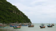Thailand, traditional fishing boats video