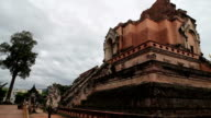 Thailand Travel Video. Ancient Buddhist Temple Ruin. Wat Chedi Luang video