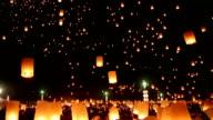 Thailand's fiery sky lanterns video