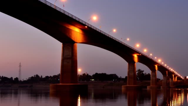 Thai-Laos Friendship Bridge video