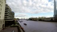 Thames River and Buildings, London, United Kingdom, Time Lapse video