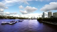 Thames River, St. Paul's Cathedral, Time Lapse, London video