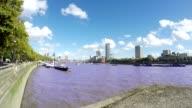 Thames River, Waterloo Bridge, Time Lapse, London video