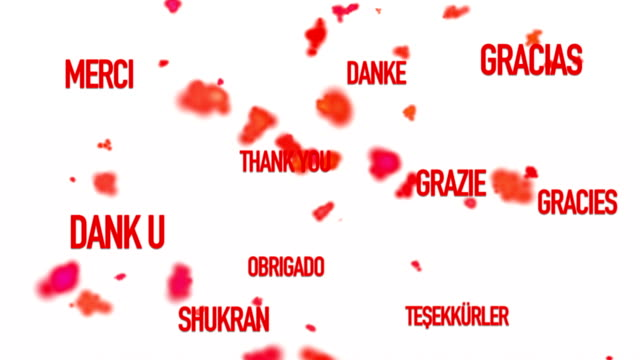 Thank You in Several Languages video