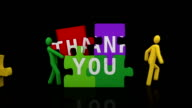 Thank you puzzle. Black background. video