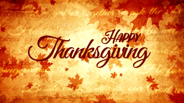 Thanksgiving day vintage background, fall, video