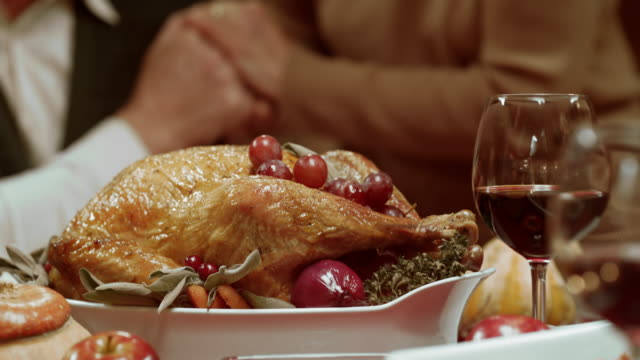 Thanksgiving turkey being brought to the table video