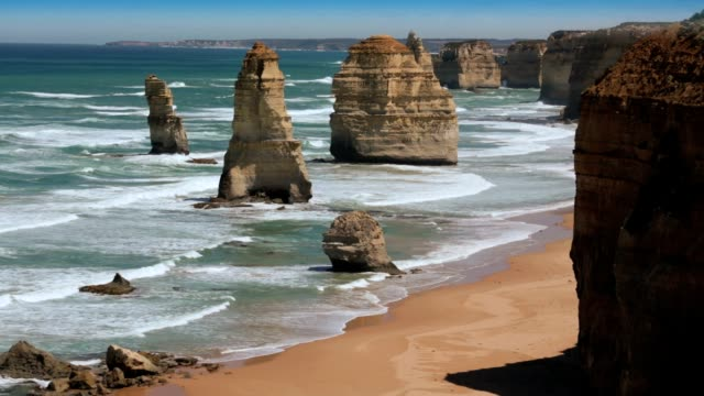 The 12 Apostles great ocean road. HD video