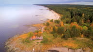 The aerial view of the Altja lake video