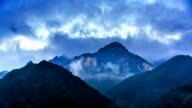The amazing cloud among Dabie Mountain in Hubei Province, China video