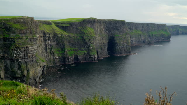 The amazing Moher Cliffs and the sea in  Ireland video